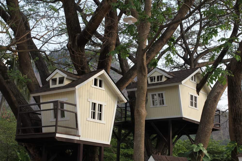 2 elegant treehouses for 2 children and more