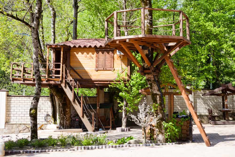 Large treehouse with 2 decks