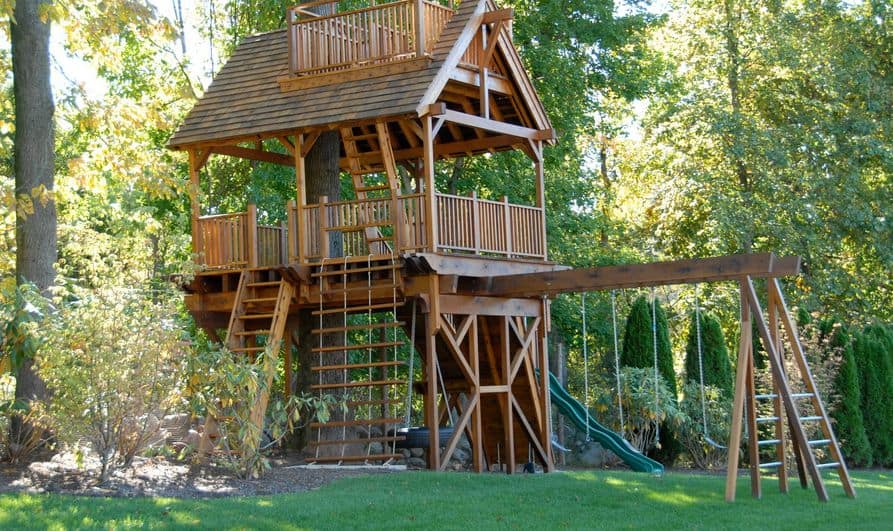 Sport complex treehouse for kids